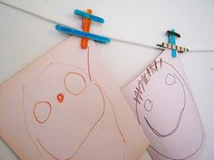 DIY airplanes or airplane clips!  So cute.