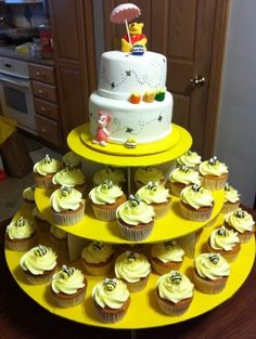 Winnie the Pooh Shower Cake By eastercand on CakeCentral.com