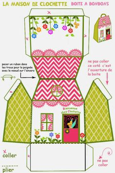 Bell box cottage for Free Print. - Ideas and free stuff for parties and celebrations Oh My Fiesta! http://www.ohmyfiesta.com/2013/11/caja-de-casita-de-campanilla-para.html