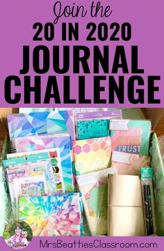 Journaling is a great tool for self-care. Join the 20 in 2020 Challenge and meet the Erin Condren Life Planner and Petite Planners to get you started! Teacher Organization, Planner Organization, Teacher Hacks, Organizing Clutter, Erin Condren Life Planner, Monthly Planner, Planner Pages, Planner Tips, Journal Challenge