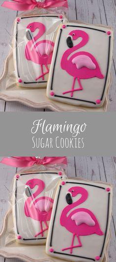 Flamingo Cookies - 12 Decorated Cookies #affiliate