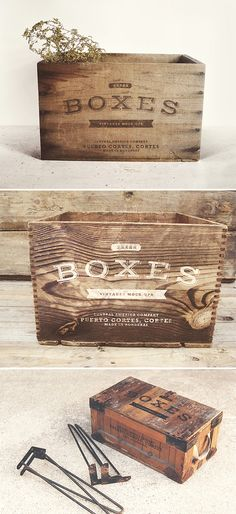 Add some vintage flair to your logo designs with these photorealistic wooden boxes. All you have to do...