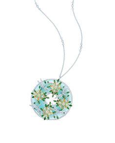 Tiffany dragonfly and flower pendant. So pretty