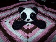 Panda Bear Lovey ~ free pattern | All Things Crocheted - Lovies ...