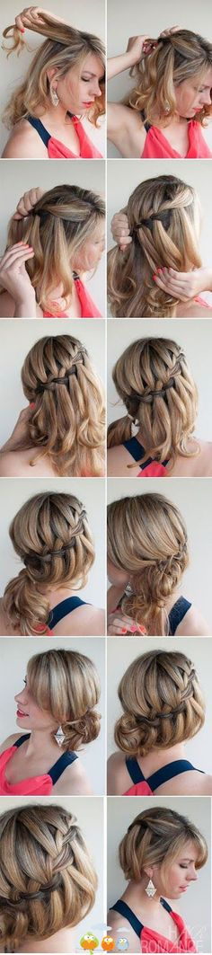 sideways dutchbraid, updo