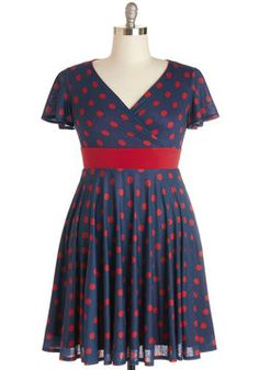 Feeling Footloose Dress in Navy, #ModCloth
