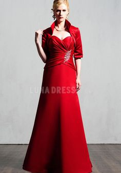 A-line Sweetheart Floor-length Satin Evening/Prom Dresses Young Mother Of The Bride, Evening Dresses, Prom Dresses, Bride Dresses, Plus Size Vintage, Red Gowns, Mothers Dresses, Lace Bodice, Formal Gowns