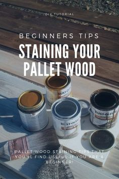 Staining your pallet wood the right way can do wonders for your pallet project, here are some staining tips that you'll find useful if you are a beginner.