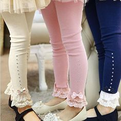 Cheap leggings kids, Buy Quality kids leggings directly from China kids cotton leggings Suppliers: Retail to children girls spring fall pink blue beige lace trim ruffle rhinestone leggings kids princess cotton legging Lace Leggings, Cotton Leggings, Leggings Are Not Pants, Leggings Store, Cheap Leggings, Lace Pants, Velvet Leggings, Printed Leggings, Fashion Kids