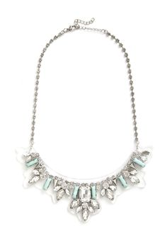 Retrospective Reception Necklace. Sporting this statement necklace, you walk into the hall and bask in the applause of fellow artists. #white #modcloth