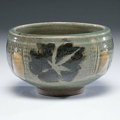 Leaf Design Bowl by Otto Heino (American, 1915-2009), 1999.  An Otto Heino signature form titled Leaf Design Bowl, signed on base; ht. 4.75, dia. 8 in.