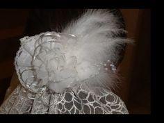 "tocado de novia con flor de organza ""quemada"" ✄ http://www.youtube.com/watch?v=FjZTFAjFDwc"
