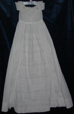 Antique Ayrshire Christening Gowns - WHITNEY SAUCERBOAT LLC