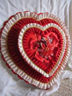 Valentine Chocolate Box Huge Red Extravagant Candy by GingerNIrie