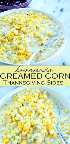 Thanksgiving Sides: Homemade Creamed Corn