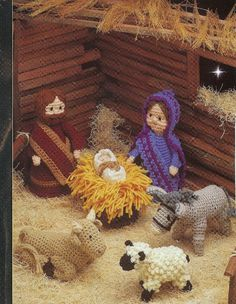 Nativity, Creche Crochet Pattern 9 Piece Religious Christmas Decoration Annies by PatternMania3 on Etsy