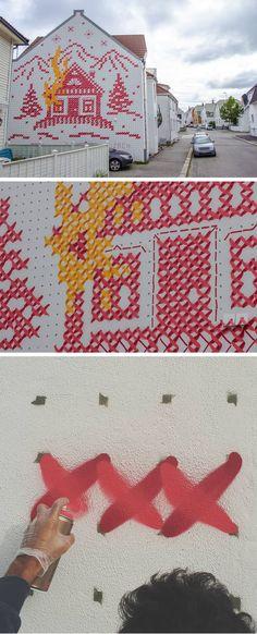 30 New ideas wall murals ideas awesome street art Graffiti Art, Murals Street Art, Art Public, Desenho Tattoo, Art Textile, Art Et Illustration, Outdoor Art, Land Art, Yarn Bombing