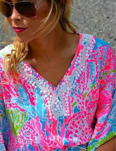 Bright and bold Lilly Pulitzer. #zappos. I don't like it as a shirt but it this print would go great on a beach bag or duffle bag