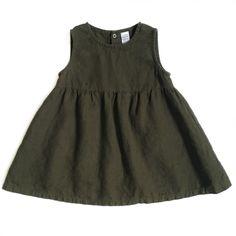 Linen Toddler Dress. Summer dress. Baby girl. Sizes 3M-4T.