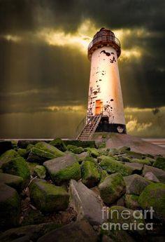 Lighthouse Into The Light Fine Art Print - Meirion Matthias