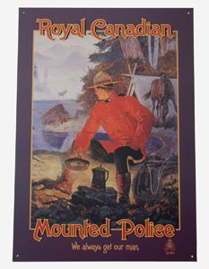 Camp Out Tin Sign from The Mountie Shop