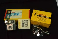 Vintage Kodak Brownie Starmite & Kodalite IV Flasholder #Kodak
