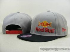 abcff7749b8fd Cheap Wholesale Red Bull Snapback Hats Adjustable Cap Gray Black (New Era)  007