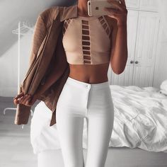 Ladder Panel Crop   #SaboSkirt  Can we take a moment to appreciate this top... @em.spiliopoulos