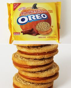 Open up a package of Oreo Pumpkin Spice ($4) and you're assaulted with the scent of a pumpkin spice candle. Thankfully they're worlds more delicious than a glob of wax. More pumpkin spice than actually pumpkin in flavor, they taste like Golden Oreos with a hint of cinnamon and graham cracker.     Photo: Brinton Parker