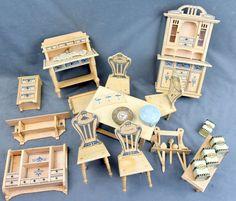 Jugendstil-Puppenstubenküchenmöbel