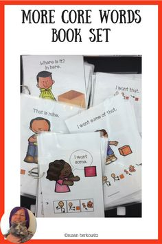 Support your AAC users with learning core words. More Core Words offers interactive books for a group of core words, to get your AAC users started. Speech Language Therapy, Speech And Language, Speech Therapy, Communication Development, Language Development, Resource Room Teacher, Interactive Books, Self Contained Classroom, Teaching Special Education