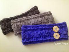 Crochet Cable Ear Warmer Headband By Jenni Catavu - Free Crochet Pattern - (ravelry)