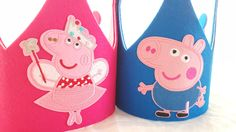 Peppa Pig Birthday Hat- Party Crown- George Pig Party Hat by iCROWNyou on Etsy