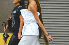 The Most Authentically Inspiring Street Style From New York #refinery29  http://www.refinery29.com/2015/09/93788/ny-fashion-week-spring-2016-street-style-pictures#slide-23  All tied up....
