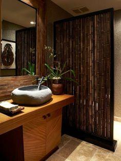 décoration de salle de bain avec du bambou                                                                                                                                                      Plus
