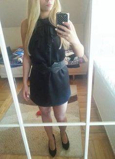 Kup mój przedmiot na #Vinted http://www.vinted.pl/kobiety/krotkie-sukienki/9519491-czarna-sukienka-vero-moda-s