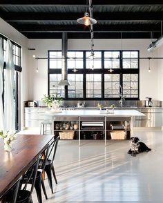 loft kitchen #industrial #minimal