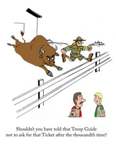 Altered a cartoon and posted this to my Wood Badge Troop.