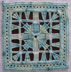 pulled thread embroidery   drawn thread embroidery