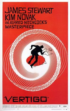 Vertigo: Hitchcock at his finest. Phenomenal  poster art.