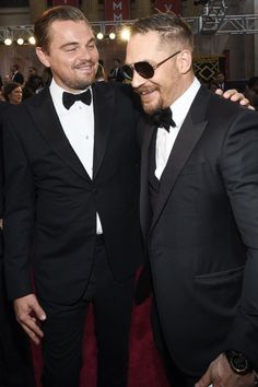 Tom Hardy and Leo DiCaprio at the 2016 Oscars - February 28th 2016