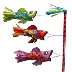 Oly*Fun Japanese Windsock - Fairfield World Craft Projects - - United Art and Education Original Art Project: Create a fun and functional Japanese Fish Windsock using Oly*Fun Craft Fabric, hot glue and markers! Fish Crafts, Sand Crafts, Carpe Coi, Book Crafts, Arts And Crafts, Kites Craft, Japanese Paper Lanterns, Japan Crafts, Puffy Paint