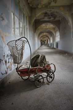 Corridors in abandoned places,resonating with the amazing sound of absolute silence.