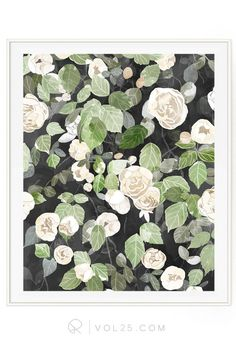 Cascading Roses Soft Floral Roses Beautifully textured by vol25