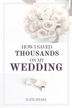 Wedding money saving tips