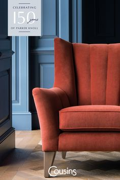 Established in 1968 in London 150 years ago, Parker Knoll has been renowned for designing and developing the best of British sofas and chairs. Parker Knoll, Bolster Cushions, Art Deco Era, Cabinet Makers, Great British, Fine Furniture, Cousins, Armchair, Lounge