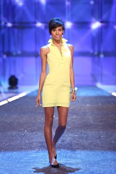 I just made a yellow shirt dress similar to this. I Upcycled a mans yellow linen shirt. Cassandra's Shirtdress | #FashionStar