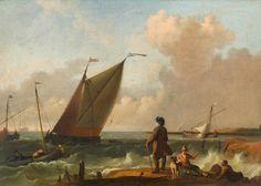 Ludolf Bakhuysen - Zeegezicht met riviermonding