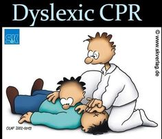 Dyslexic CPR-this made me laugh Paramedic Humor, Ems Humor, Medical Humor, Nurse Humor, Work Humor, Funny Medical, Pharmacy Humour, Radiology Humor, Dental Humor