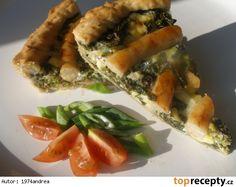 Mangoldový koláč s vinnou klobásou Spanakopita, Pizza, Ethnic Recipes, Food, Essen, Meals, Yemek, Eten